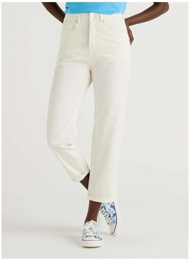 Benetton Benetton 312114GD757533 Normal Kadın Pantolon Beyaz